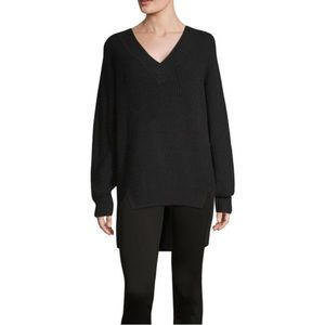 NWT a.n.a. V-Neck L/S Oversized Sweater in Black